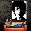 Bob Dylan Singer Portrait Art BW Huge 47x35 Print POSTER