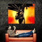 Batman Gotham Knight Sunset Art Huge 47x35 Print POSTER