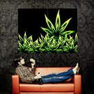 Cannabis Marijuana Weed Leaves Neon Art Huge 47x35 Print POSTER