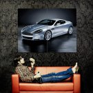 Aston Martin DBS Silver Sport Car Huge 47x35 Print POSTER
