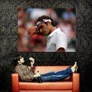 Roger Federer ATP Tennis Sport Close Huge 47x35 Print POSTER