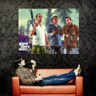 Grand Theft Auto V Characters Video Game Art Huge 47x35 Print Poster