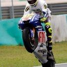 Valentino Rossi Wheelie Race Sport Bike Motorcycle 32x24 Print POSTER