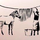 Zebra Stripes Banksy Graffiti Street Art 32x24 Print POSTER