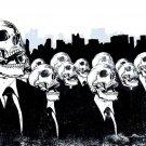 We Live No More Death Skeleton Skull 32x24 Print Poster