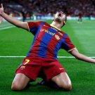 David Villa Barcelona Goal Football Soccer 32x24 Print Poster