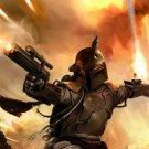 Boba Fett Bounty Hunter Star Wars Art 32x24 Print Poster