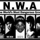 NWA Niggaz With Attitude Gangsta Rap 16x12 Print POSTER