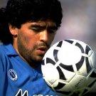 Diego Maradona Napoli Football 16x12 Print Poster