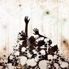 ALIVE Death Skeleton Skull 24x18 Print Poster