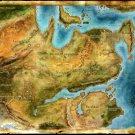 Dragon Age 2 Map Video Game Art 24x18 Print Poster