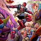 Deadpool Clowns Fight Marvel Comics Art 24x18 Print Poster