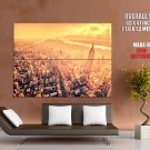 New York City Manhattan Ny Sunset Huge Giant Print Poster