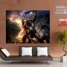 God Of War Kratos Cyclop Battle Video Game Huge Giant Print Poster