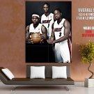 Big 3 Wade Bosh James Miami Heat Nba Huge Giant Print Poster