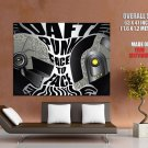 Daft Punk Face To Face Art Music Helmets Huge Giant Print Poster