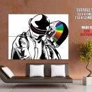 Daft Punk Art Music Helmets Huge Giant Print Poster