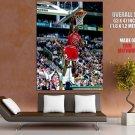 Michale Jordan Dunk Chicago Bulls Nba Huge Giant Print Poster