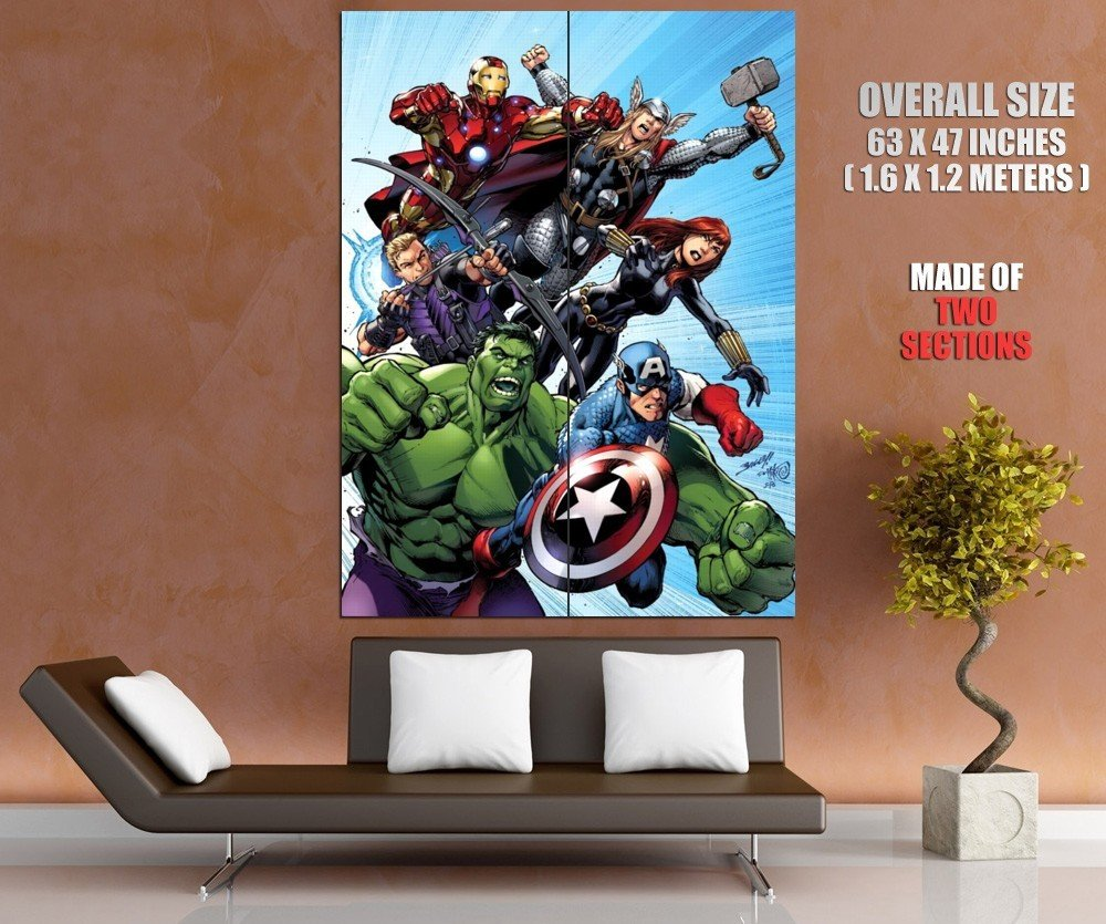 Avengers Characters Comics Art Marvel Movie Huge Giant Print Poster