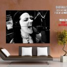 Amy Lee Evanescence Screaming Bw Music Huge Giant Print Poster