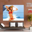 Hed Kandi Hot Bikini Girl Wave Sun Art Music Huge Giant Print Poster