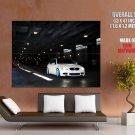 Bmw M3 E92 White Car Blue Rims Huge Giant Print Poster