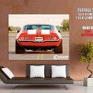 Chevrolet Camaro Z28 Stripes Muscle Car Huge Giant Print Poster