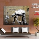 I Am Your Father At At Banksy Graffiti Street Art Huge Giant Print Poster