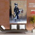 Gangsta Boy Hip Hop Banksy Graffiti Street Art Huge Giant Print Poster