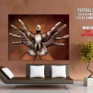 Body Art Eagle Hands Fingers Cool Huge Giant Print Poster