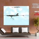 Wulffmorgenthaler Aircraft Bird Bombs Comic Funny Art HUGE GIANT Print POSTER