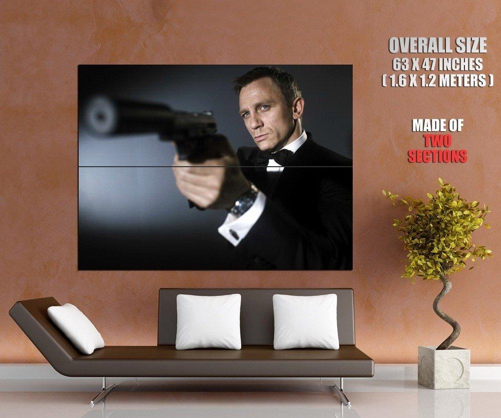 James Bond Daniel Craig Silenced Pistol Huge Giant Print Poster