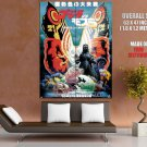 Godzilla Vs Mothra 1992 Japanese Sci Fi Monsters Art Huge Giant Print Poster