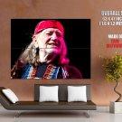Willie Nelson Country Singer Music Huge Giant Print Poster