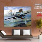 Ww2 Aircraft World War Bomber Art Huge Giant Print Poster