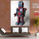 Retro Robot Vintage Art Huge Giant Print Poster