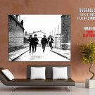 The Beatles Retro Bw Rock Band Music Huge Giant Print Poster