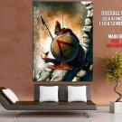 Spartan Warrior Shield Spear Art Huge Giant Print Poster