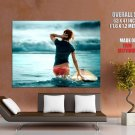 Surfing Hot Chick Sea Sexy Girl Sport Huge Giant Print Poster