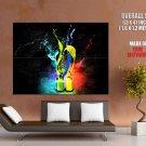 Colours Splashes Bottles Abstract Art Huge Giant Print Poster