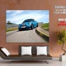Mini Cooper Blue Coupe Concept Car Sport Huge Giant Print Poster
