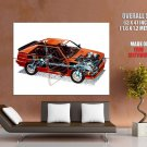 Audi Quattro 1980 Parts Orange Classic Rally Car Huge Giant Print Poster