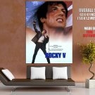 Rocky V 5 Movie Sylvester Stallone Sport Huge Giant Print Poster