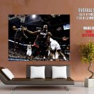 Lebron James Alley Oop Dwayne Wade Miami Heat Nba Huge Giant Poster