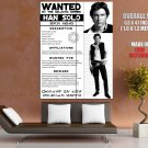 Han Solo Wanted Huge Giant Poster Outlaw Star Wars Criminal Huge Giant Poster