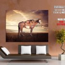 Native American Girl Horse Sunset Indians Huge Giant Poster
