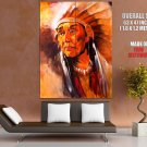 Native American Chief Painting Art Indians Huge Giant Poster