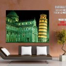 Cathedral Leaning Tower Of Pisa Around The World Huge Giant Poster