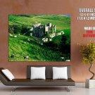 Clifden Castle Ireland Grass Sheeps Around The World Huge Giant Poster