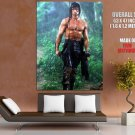 John Rambo Rain First Blood Sylvester Stallone Action Movie Huge Giant Poster
